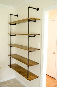 DIY Fixer Upper Pipe Shelving Tutorial - unOriginal Mom