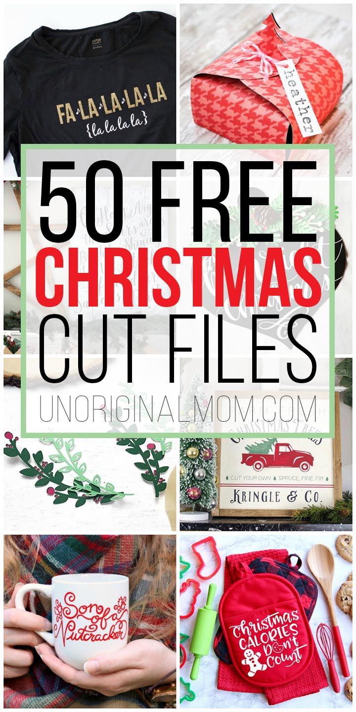 Download 50 Free Christmas Cut Files for Silhouette and Cricut!