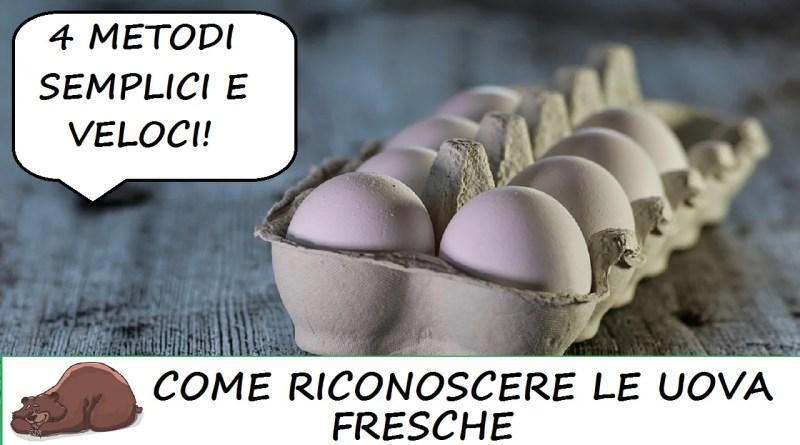 Come riconoscere un uovo fresco da uno vecchio