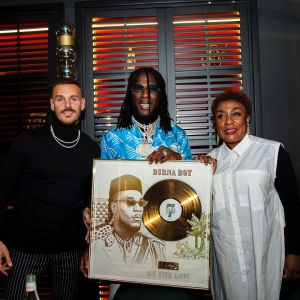 Burna Boy's song goes Gold