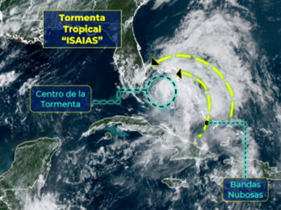 Isaiah is degraded;  goes from hurricane to tropical storm