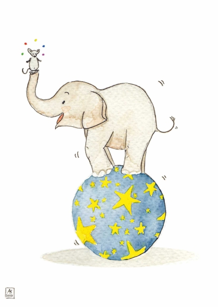 Elephant acrobate