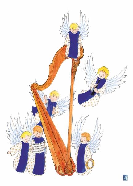 Anges à la harpe