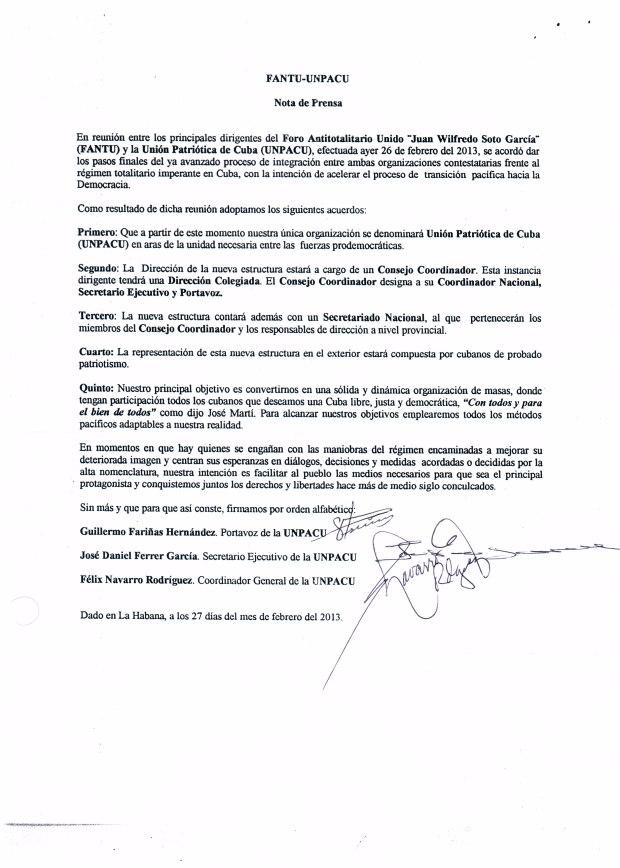 Copia Original de la Nota de Prensa