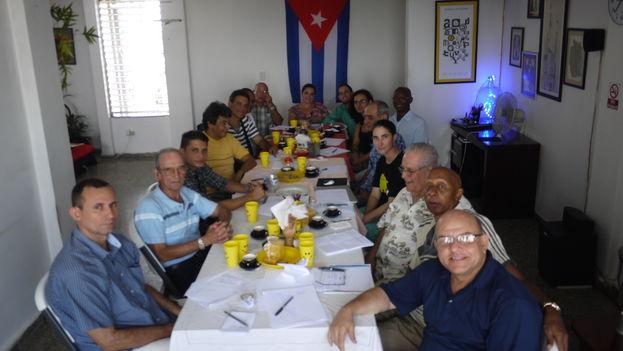 Reunión de activistas en La Habana. (14ymedio)