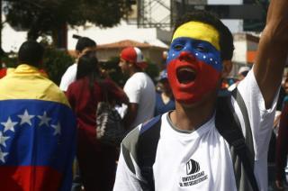 estudiantes venezolanos en las calles