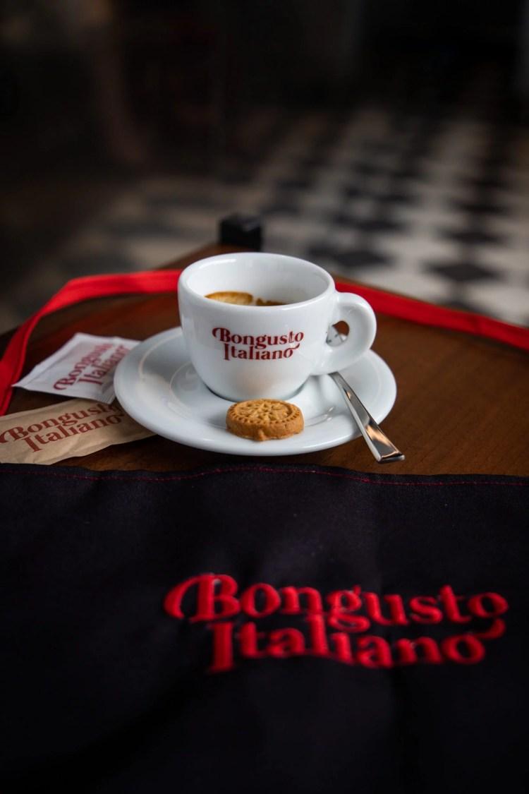 Photo culinaire pour un café italienBongusto