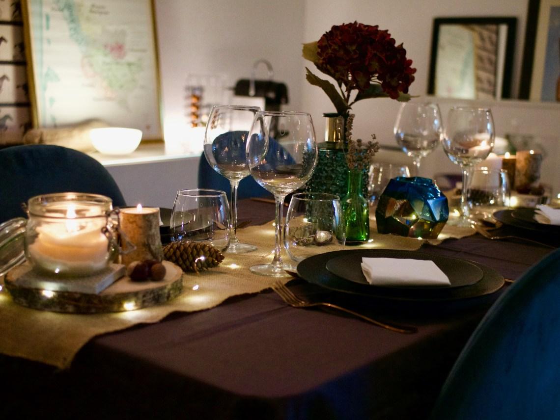 Décoration de table automne - ensemble