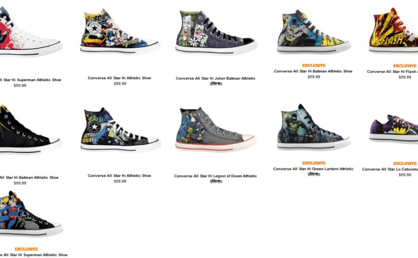 Zapatillas Converse de los personajes de DC