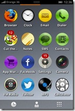 firefox OS - applications menu