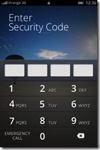 firefox OS - locked screen
