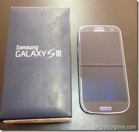 Samsung galaxy s3 unboxing -1- unpocogeek.com