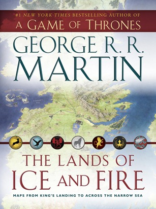 The lands of ice and fire book cover - unpocogeek.com