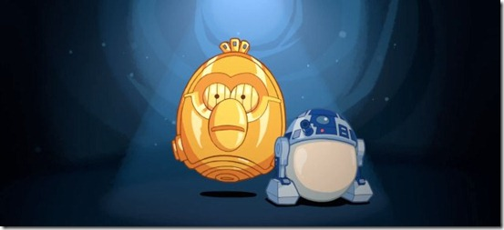 angry birds star wars R2-D2 and C-3PO gameplay - unpocogeek.com