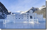 Ice Castle, winter, Lake Louise, Banff National Park, Alberta, Canada