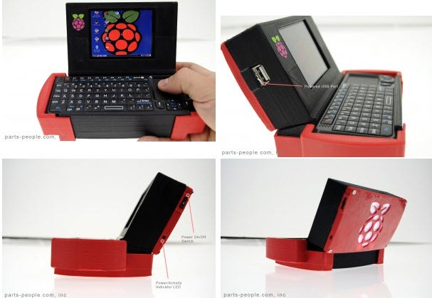 raspberry pi mini notebook - unpocogeek.com