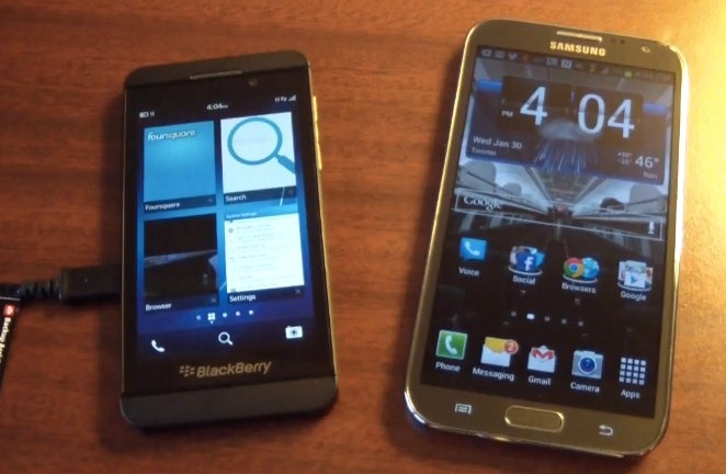 [video] Comparativa entre BlackBerry 10 y Android