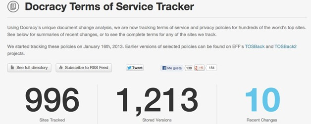 Docracy Terms of Service and Privacy Policy Tracker - Changes - unpocogeek.com-1