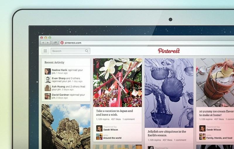 Pinterest pone a pruebas un nuevo diseño