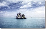 Lonely island rock formation, Thailand