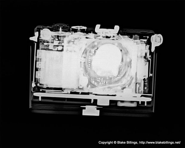 Cámaras fotográficas bajo rayos X