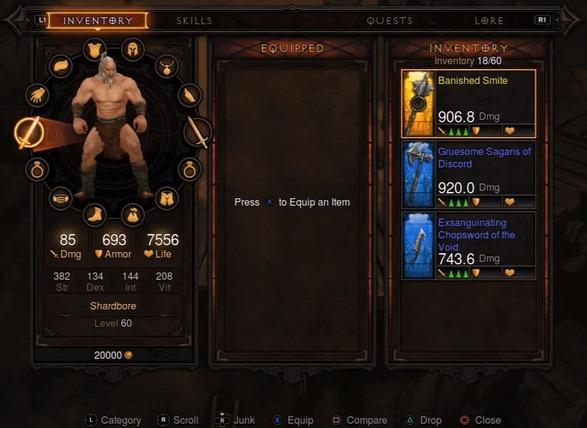 diablo 3 for ps3 new inventory - unpocogeek.com