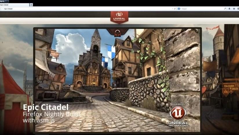 Unreal Engine 3 funcionando dentro de Firefox
