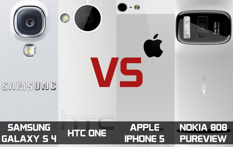 Comparativa de cámaras entre iPhone 5, Galaxy S4, HTC One y Nokia 808