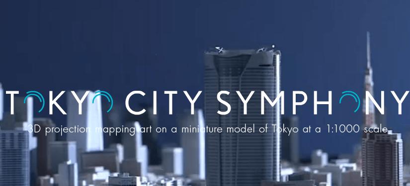 Tokyo Symphony, increíble proyección 3D sobre una maqueta de la ciudad