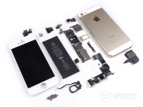 iphone5s teardown ifixit - unpocogeek.com