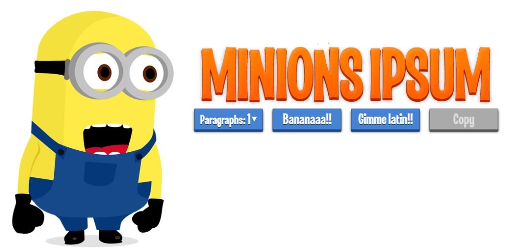 Minions ipsum, añade texto en idioma minion a tus proyectos