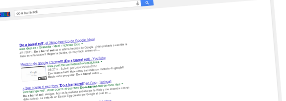 do a barrel roll google huevo de pascua - unpocogeek.com