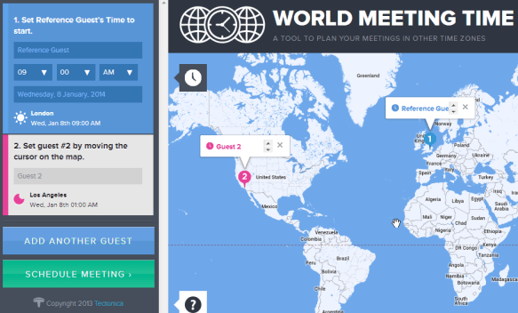 world meeting time, organiza tus reuniones - unpocogeek.com