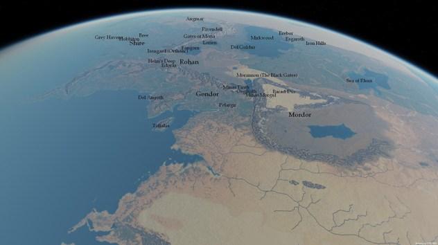 mapa de la tierra media  outerra - unpocogeek.com