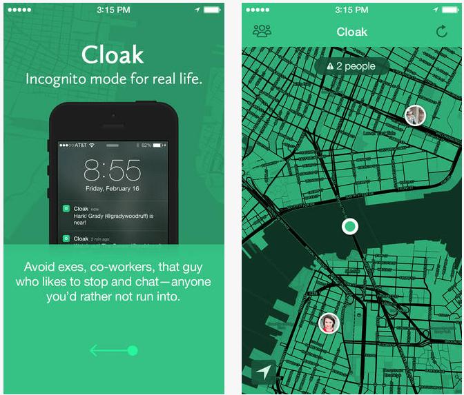 Cloak, la aplicación anti social
