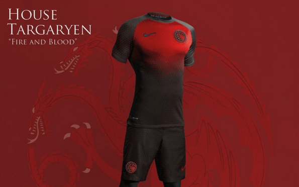 Camisetas de fútbol de las casas de Westeros