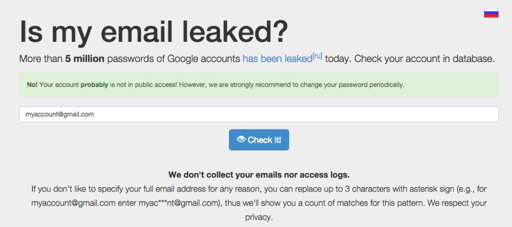 Verifica si se ha filtrado la contraseña de tu cuenta de gmail
