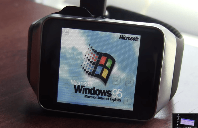 Windows 95 corriendo en un Smartwatch