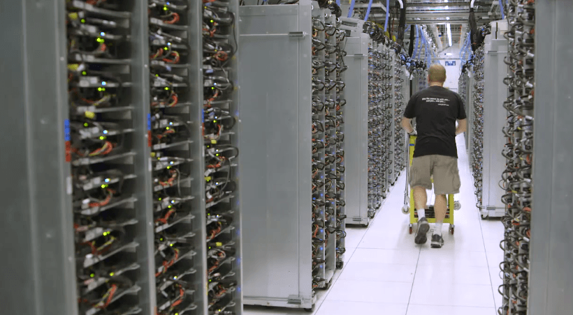 Una visita guiada por un data center de Google
