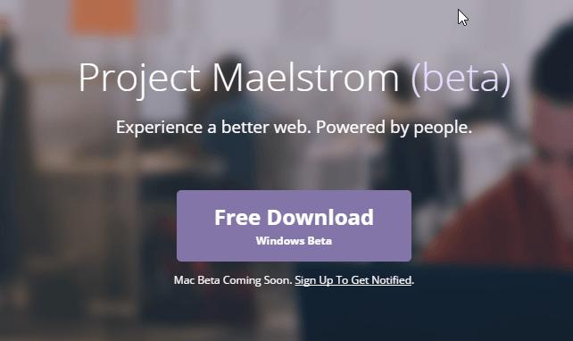 El navegador web que sirve paginas con la tecnología Bittorrent