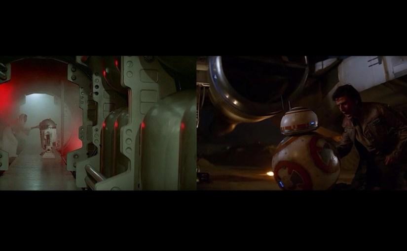 Comparación lado a lado de Star Wars IV y VII