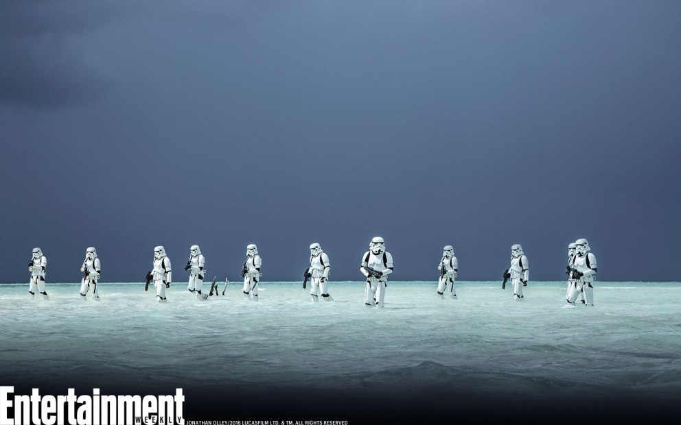 Stormtroopers en un día de playa