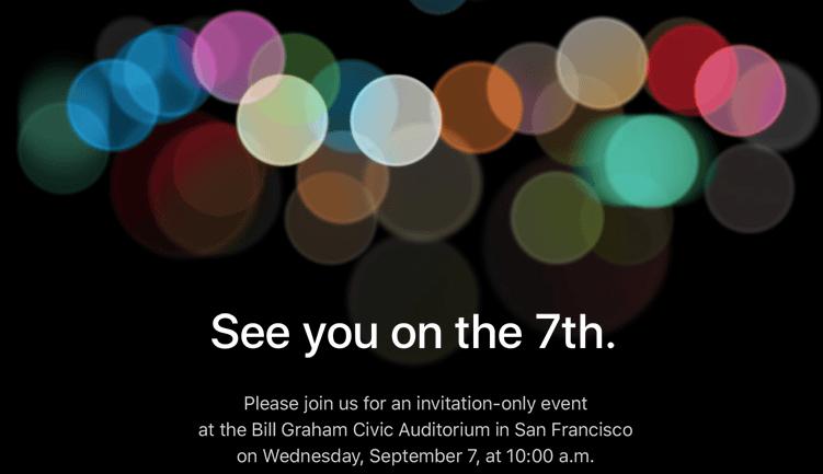 iPhone 7 el próximo 7 de Septiembre