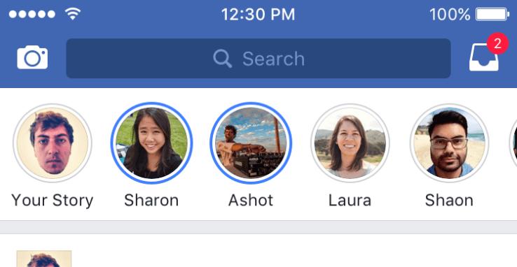 """Facebook comienza a añadir """"Historias"""" en su aplicación móvil"""