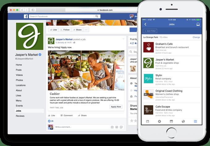 Facebook añade la posibilidad de publicar ofertas laborales