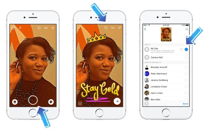 Facebook messenger day, otro clon de Snapchat