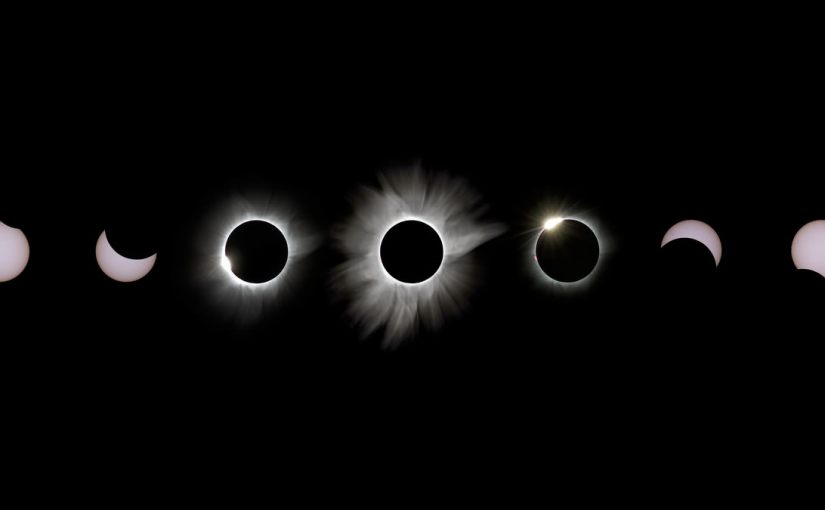 Eclipse solar total visualizado en time lapse 4K