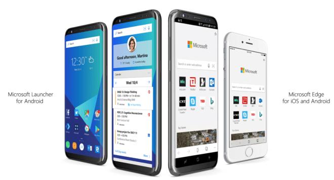 microsoft launcher y edge para android y iOS