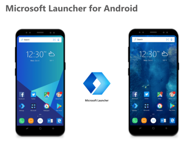 Microsoft Launcher para android preview
