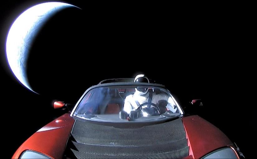 Ubicación en tiempo real del Tesla Roadster que el Falcon Heavy envió al espacio